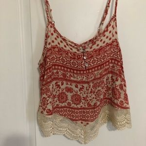 Lace, Aztec Printed Tank Top
